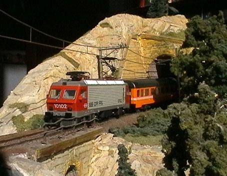 La 10102 en H0 (Märklin) sur mon diorama.