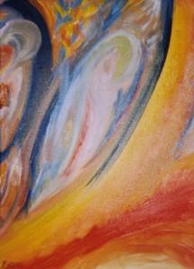 L'envol de l'ange, acrylique sur toile, 40x30, vendu