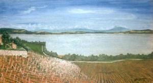 La pointe du Grin vue de l'Abbaye. Huile sur toile, 40x70, vendu.