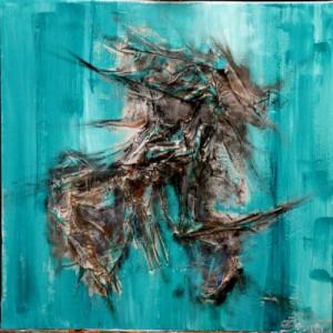 Recycling, acte I, scène 1, acrylique sur toile, 40x40