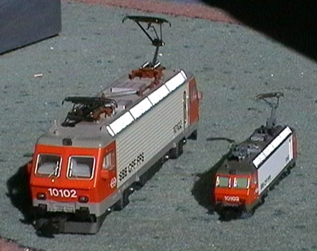 10102 en H0 et en N (Märklin et Roco).